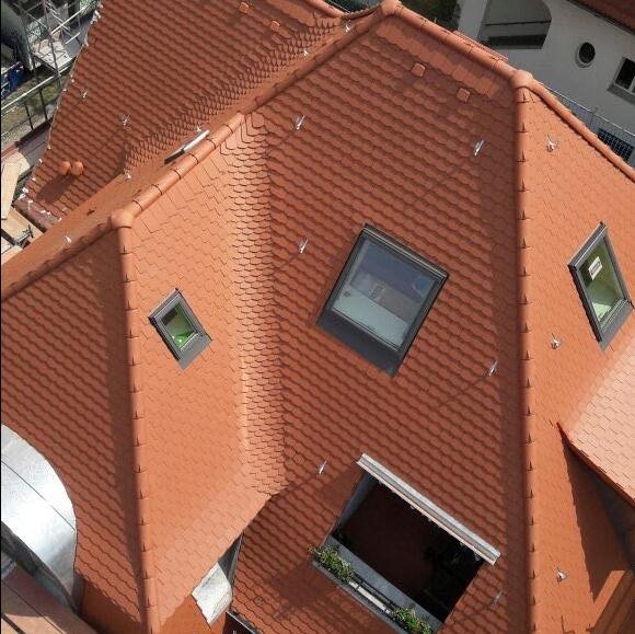 Steildach mit Fenstern