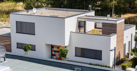 Flachdach mit Terrasse